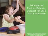 Principles of Positive Behavior Support for DSPs Part 1: Overview